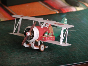 Finished Santa bi-plane