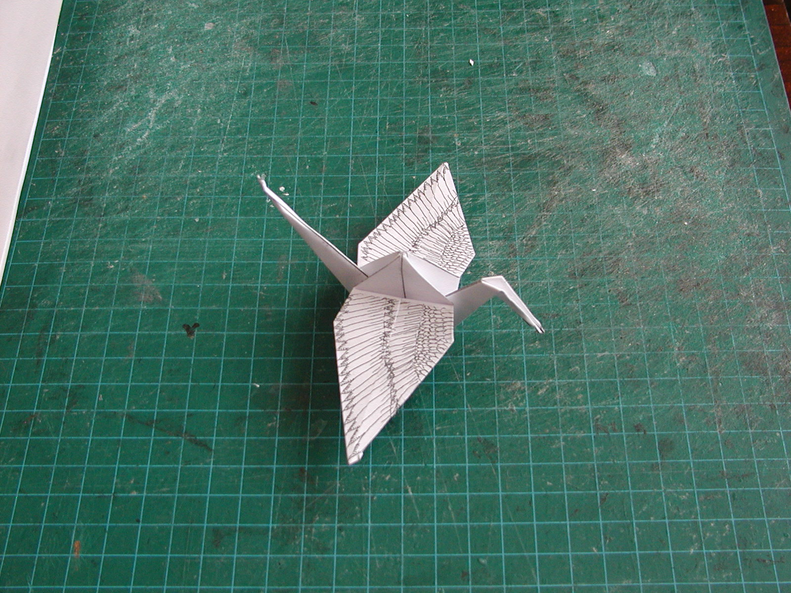 downloadable hand decorated origami crane steves paper